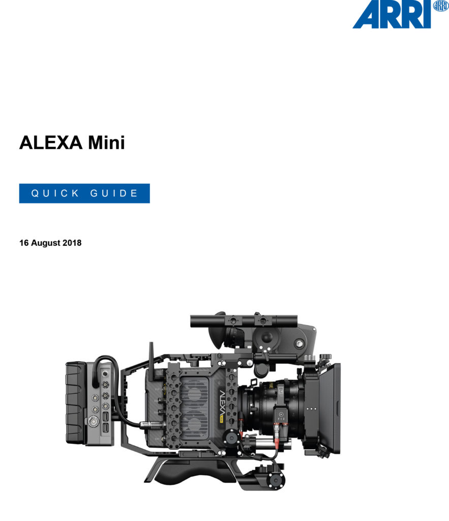 ALEXA Mini Studio / Quick Guide