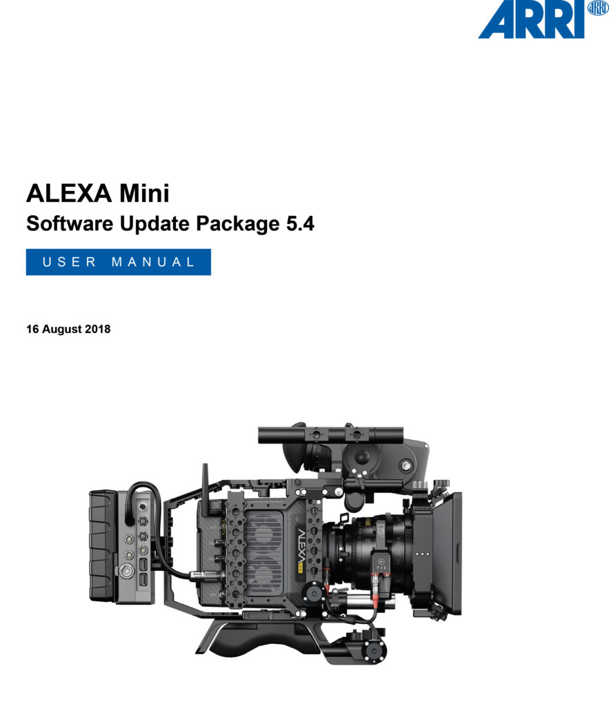 ALEXA Mini Studio / User Manual