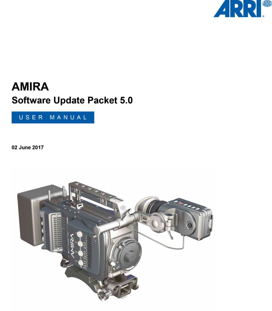 ARRI AMIRA PREMIUM User Manual