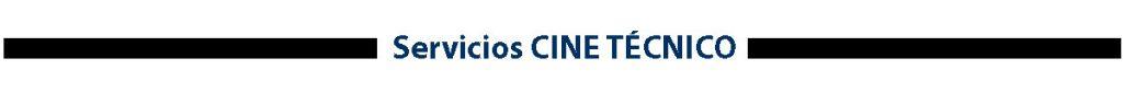 Servicios Alquiler Cine Técnico