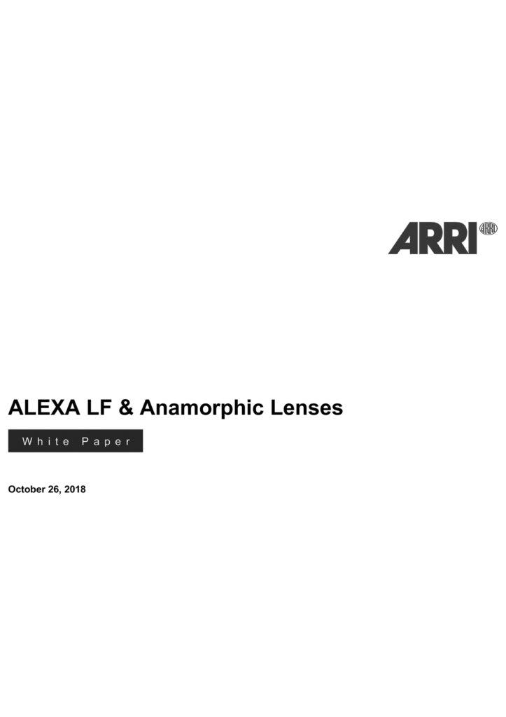 Alexa LF anamorphic Lenses
