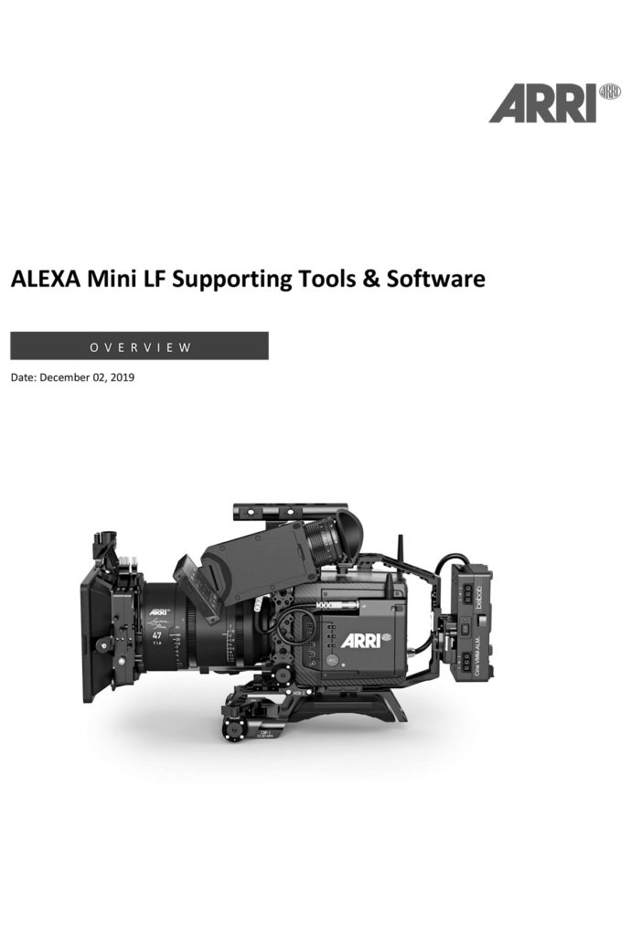 Arri Alexa Mini LF - Supporting Tools