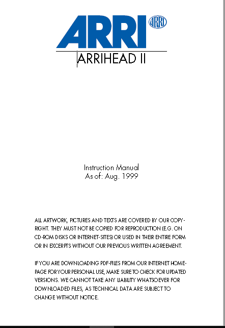 ARRIHEAD 2 Wheels User Manual