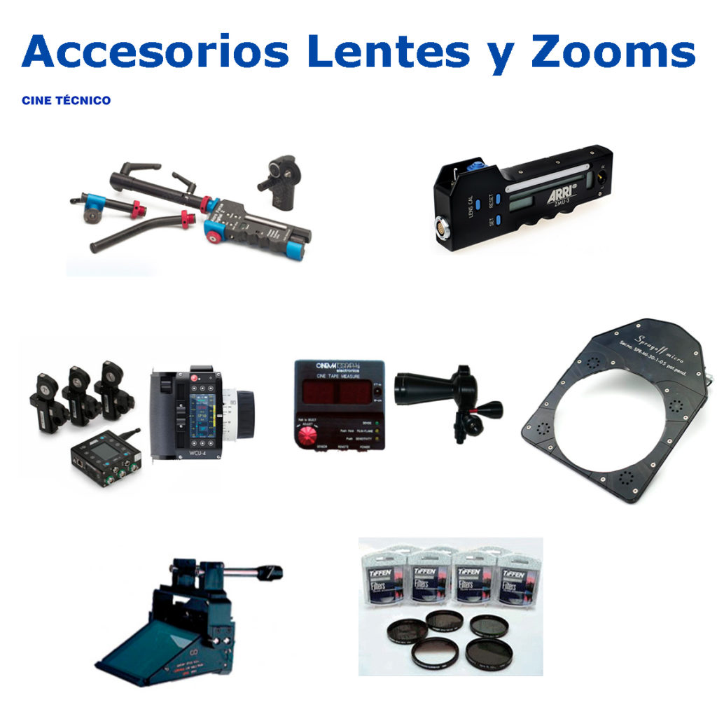 Alquiler Accesorios Lentes y Zooms