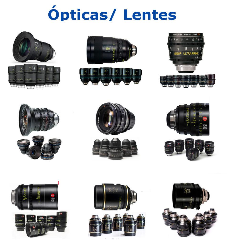 Alquiler de Ópticas y Lentes - Cine Técnico