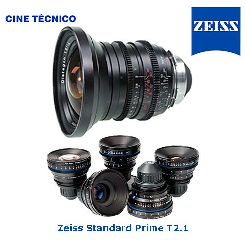 Alquiler ópticas Zeiss Standard Prime T2.1 - Cine Técnico