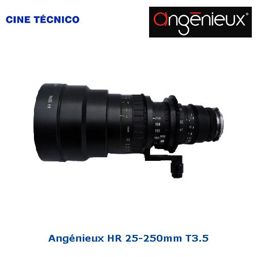 Alquiler ópticas Angénieux HR 25-250mm T3.5 - Cine Técnico
