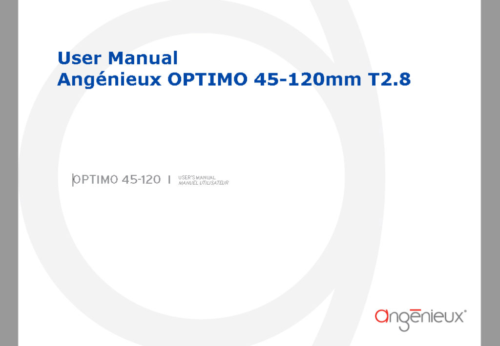 Angénieux OPTIMO 45-120mm T2.8 User Manual