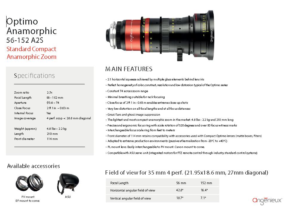 Angénieux Optimo Anamorphic 56-152mm