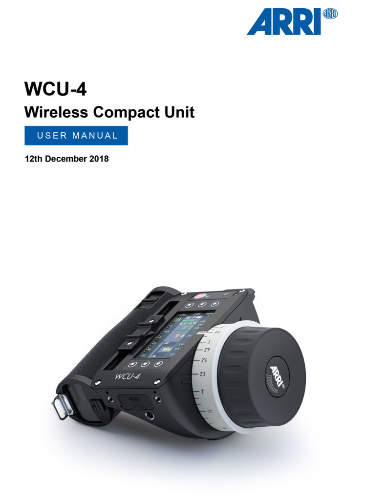 Arri Wireless Compact Unit WCU-4 / Manual
