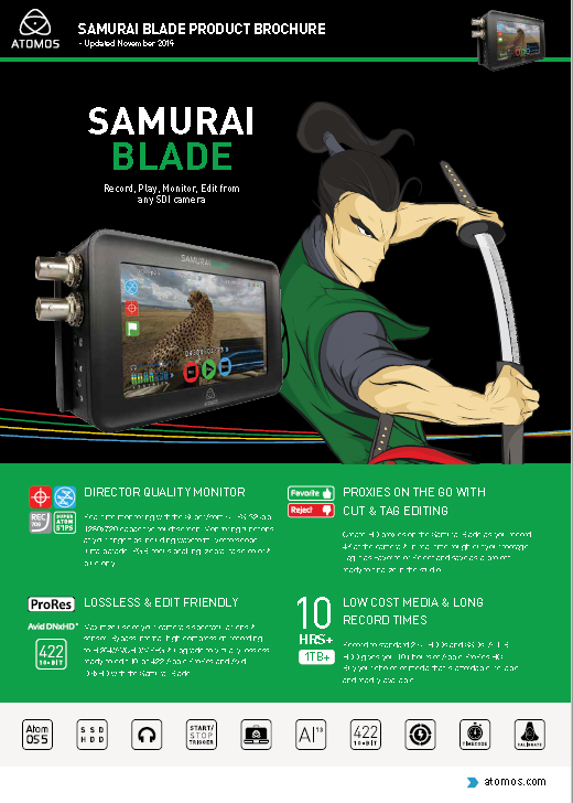 Atomos Samurai Blade - Product Sheet