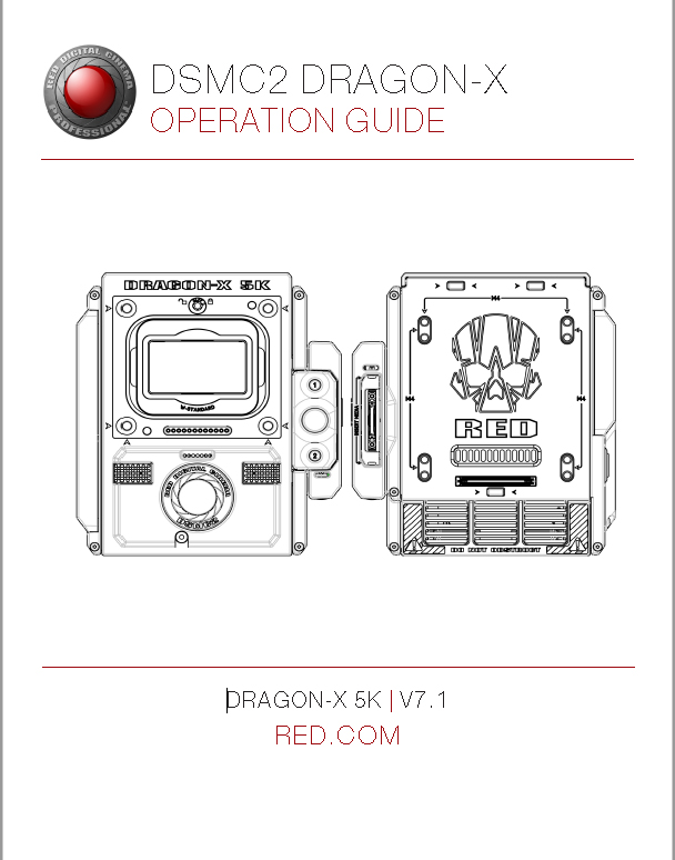 RED DSMC Operating Guide Dragon