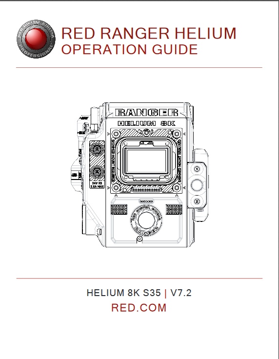 RED RANGER HELIUM Operation Guide