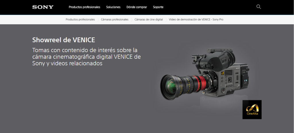 Showreel de Sony Venice.