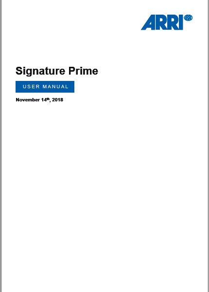 Signature Prime User Manual