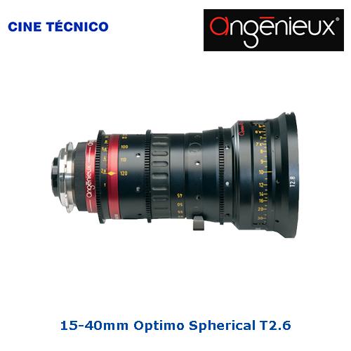 Alquiler objetivos Angénieux 15-40mm Optimo Spherical T2.6 - Cine Técnico