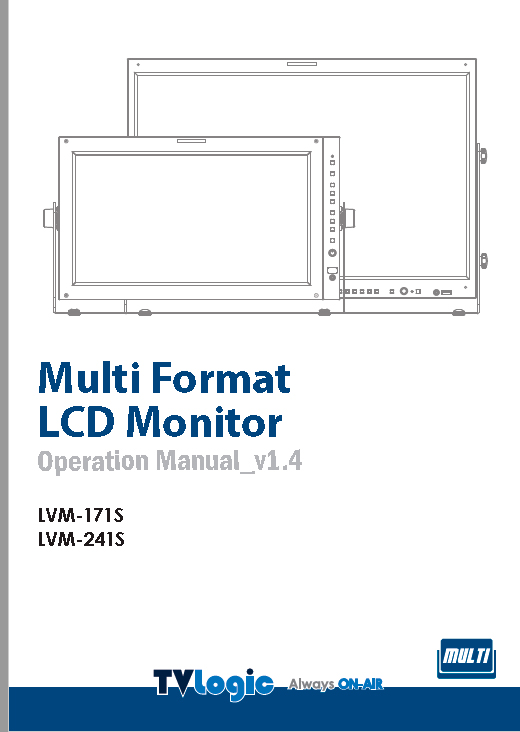 "Monitor 24"" Tv Logic HD Manual"