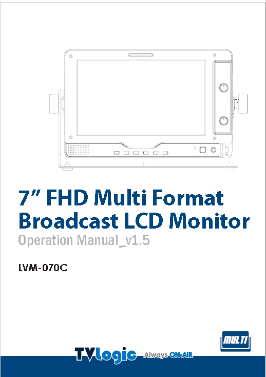 "Monitor TVLogic 7"" HD - Manual"
