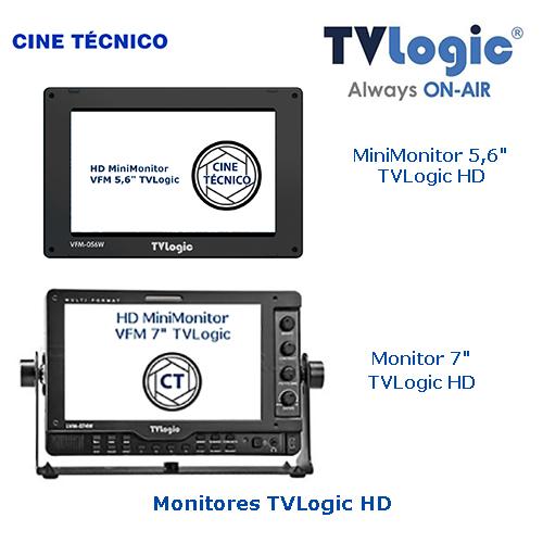 Alquiler Monitores 5,6 , 7 y 24 pulgadas TVLogic HD - Cine Técnico