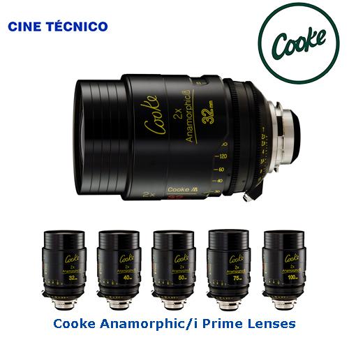 Alquiler ópticas Cooke Anamorphic/i Prime Lenses - Cine Técnico