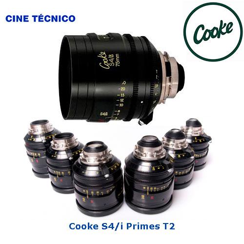 Alquiler ópticas Cooke S4/i Primes T2 - Cine Técnico
