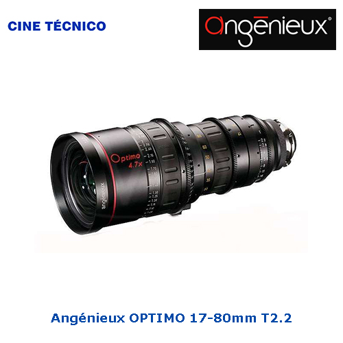Alquiler ópticas Angénieux OPTIMO 17-80mm T2.2 - Cine Técnico