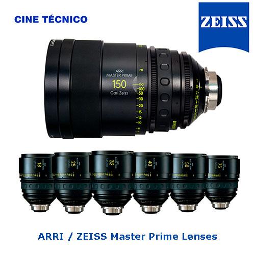 Alquiler ARRI / ZEISS Master Prime Lenses - Cine Técnico