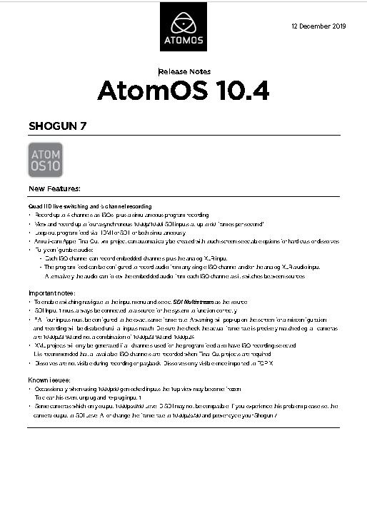"Atomos Shogun 7"" HDR Monitor-Recorder-Switcher"