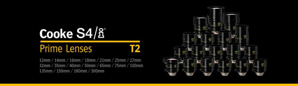 ópticas Cooke S4i Primes T2