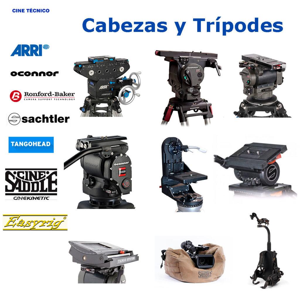 Alquiler Cabezas y Trípodes - Cine Técnico