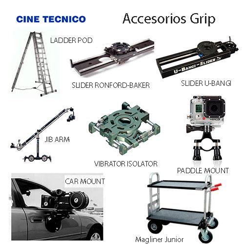 Alquiler accesorios Grip - Cine Técnico