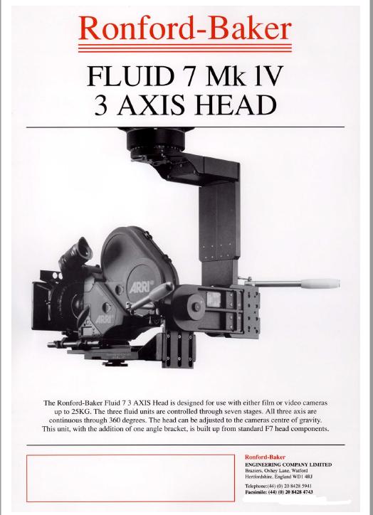 RONFORD F7 Fluid Head Manual