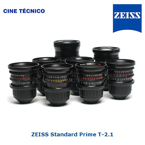 Alquiler ZEISS Standard Prime T-2.1 - Cine Técnico