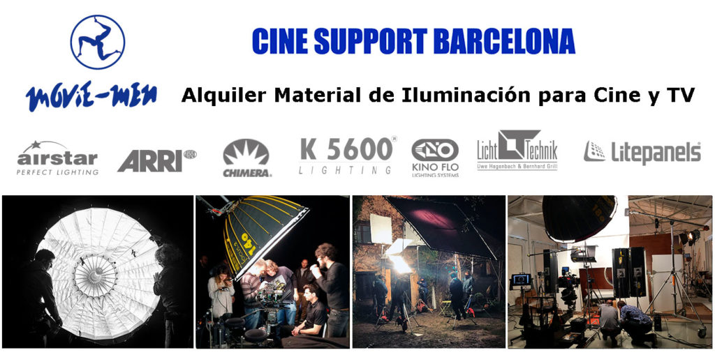 Movie-Men Alquiler Material de Iluminación para Cine y TV - Coine Support Barcelona