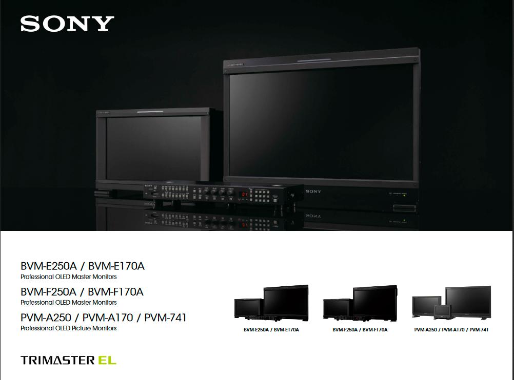 "Monitor SONY Trimaster OLED 25 "" Catálogo"