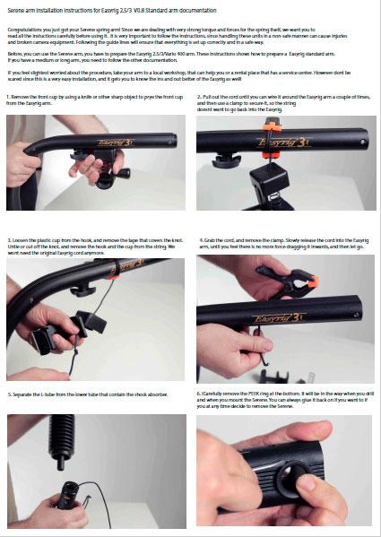 Flowcine SERENE Arm Instructions