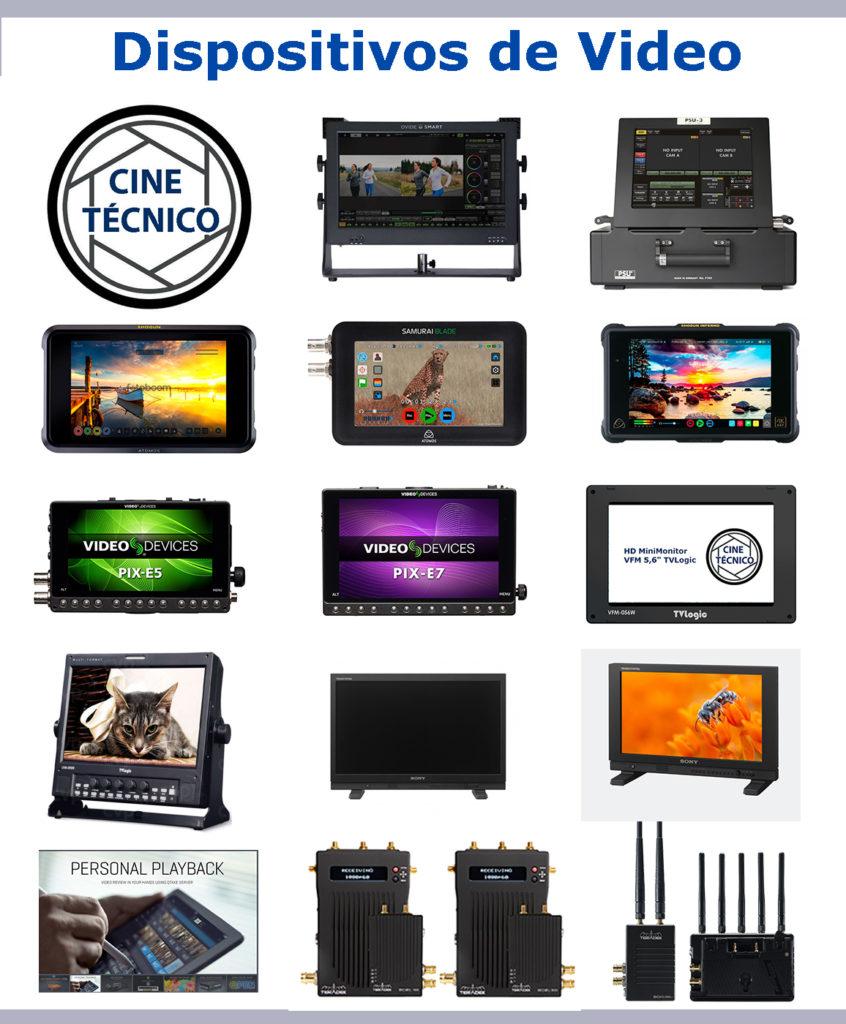 Alquiler dispositivos de Video - Cine Técnico