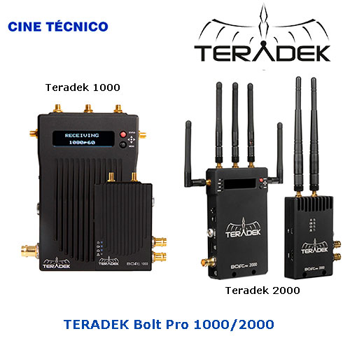 Alquiler HD TX Video Wireless TERADEK Bolt 1000/2000 - Cine Técnico
