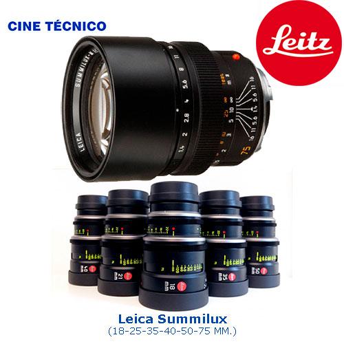 Alquiler ópticas Leica Summilux - Cine Técnico