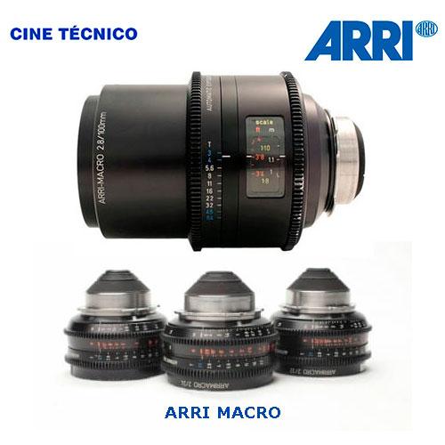 Alquiler ópticas ARRI MACRO - Cine Técnico