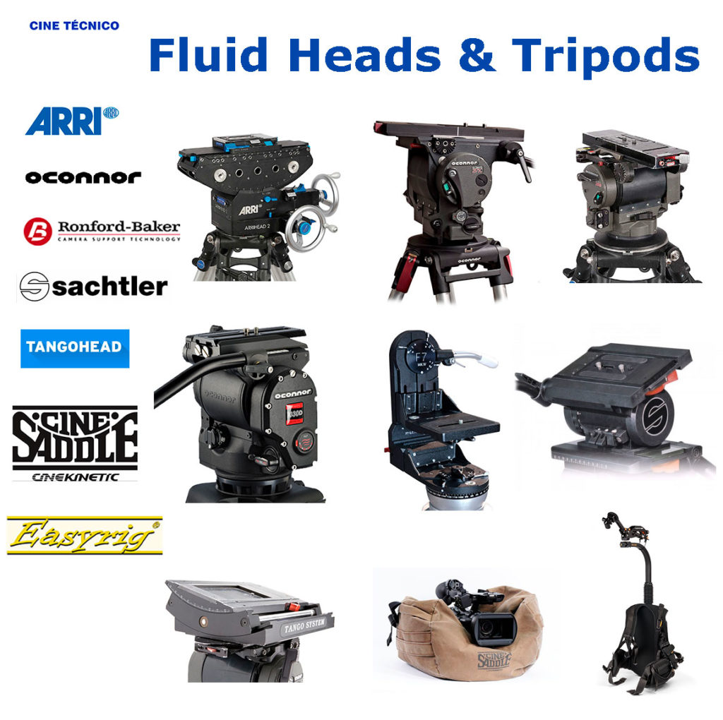 Rent Grip Fluids Heads & Tripods - Cine Técnico