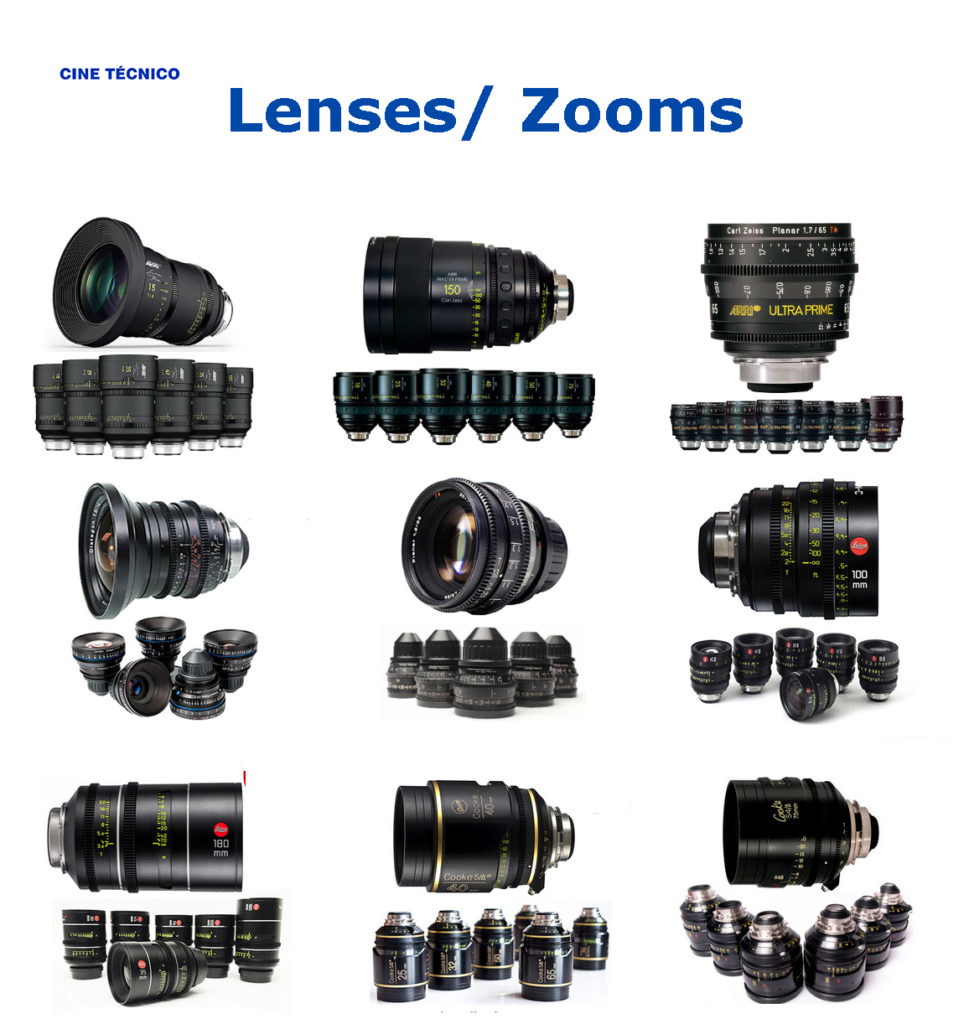 Rent Lenses & Zooms - Cine Técnico