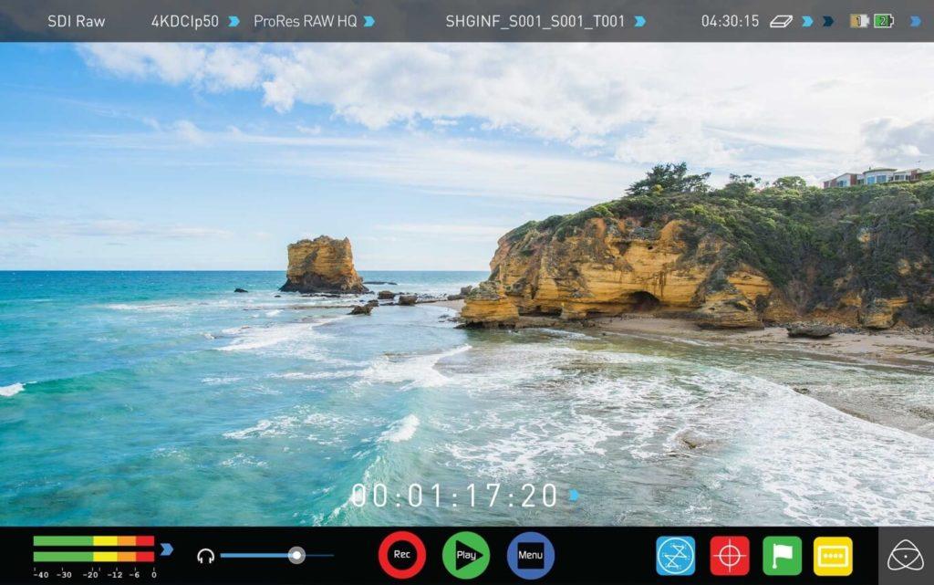 Monitor/Grabador Atomos 7″ Shogun Inferno 4K HDR 60p.