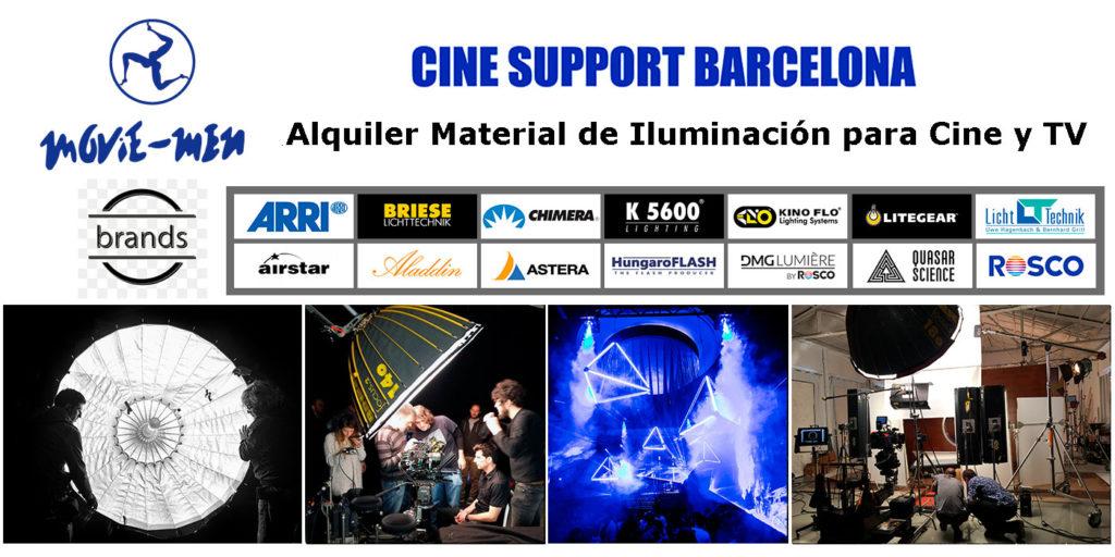 Alquiler Material de Iluminación para Cine y TV - Movie.Men