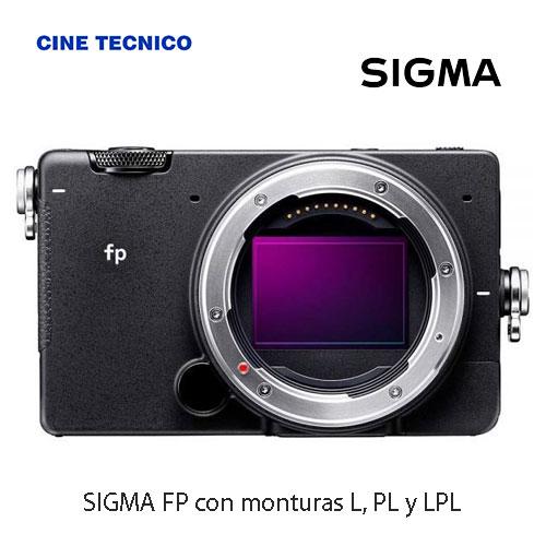 cámara SIGMA FP con monturas L, PL y LPL