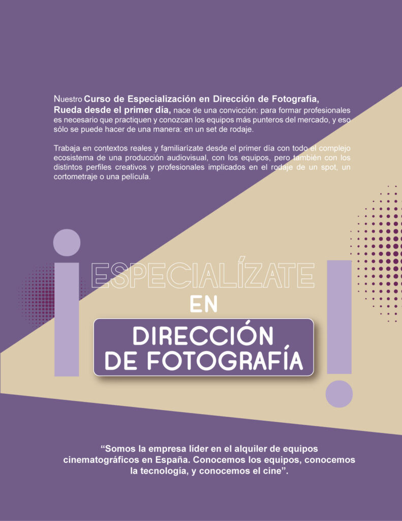 Master - Curso Especialización Director de Fotografía
