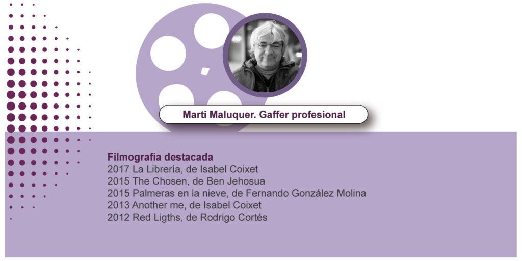 Marti Maluquer. Gaffer profesional